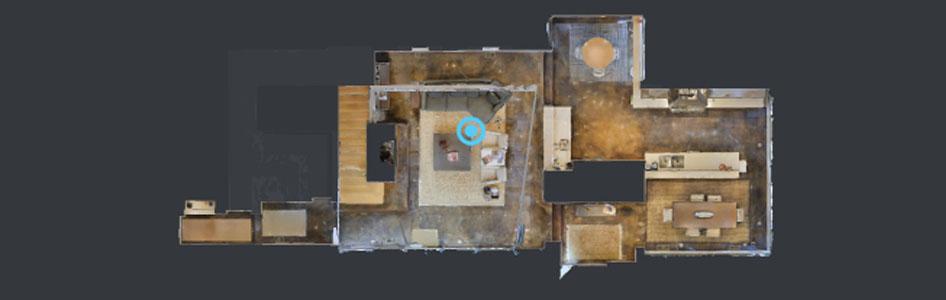 360* 3D Virtual Tours Floorplan View